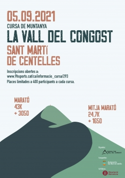cartell Cursa la Vall del Congost
